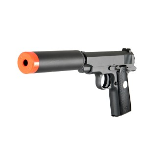 All NEW G2A Full Metal Airsoft Handgun bbs Pistol With Silencer