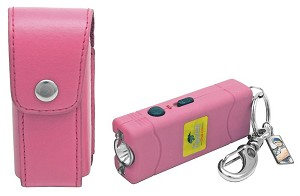 Nitro 2.5 Million Volt Stun Gun Rechargeable with LED light in Pink