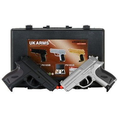 Airsoft P618SB Dual Spring Pistol Set with case