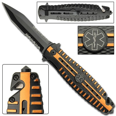 Protocol EMT Spring Assist Tactical Rescue Knife