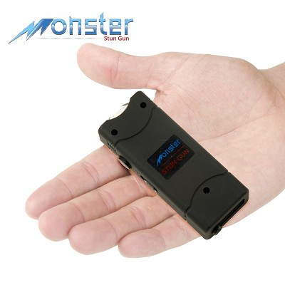 8,000,000 Rechargeable Ultra Mini Stun Gun With LED Light Black