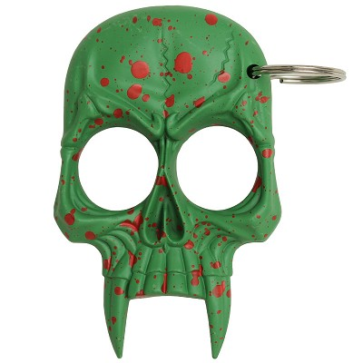 Zombie Killer Demonic Skull Self Defense Keychain