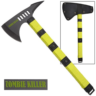 Zombie Killer Tactical Throwing Axe With Sheath - 14 5 Inch Overall