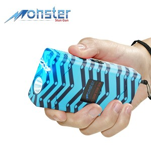 25 Million Volt Rechargeable Stun Gun With LED Light and Disable Pin Chevron