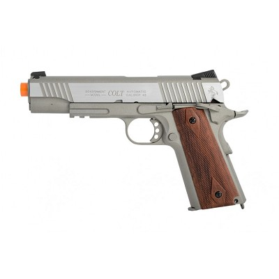 Colt Full Metal Rail Gun 1911 CO2 Blowback Airsoft Pistol Stainless