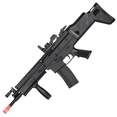 350 FPS FN SCAR-L MK16 Spring Airsoft Rifle 6MM Gun With Red Dot Sight