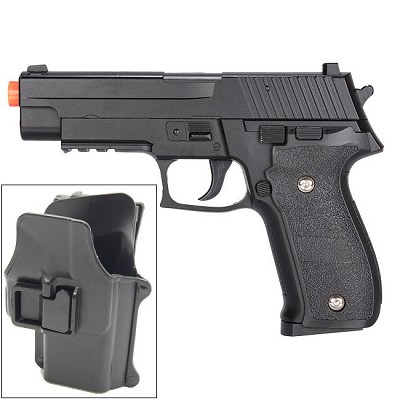 G26H Airsoft Metal 226 Spring Pistol with Quick Release Holster 280 FPS