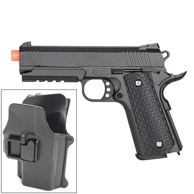 G25H 1911 Metal Airsoft Spring Pistol with Quick Release Holster