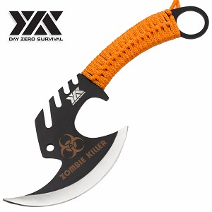 Zombie Killer Skullsplitter Throwing Axe - Day Zero Survival Orange