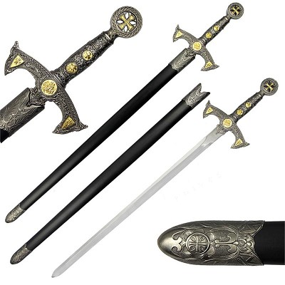 Medieval 12th Century Templar Knight Crusader Sword