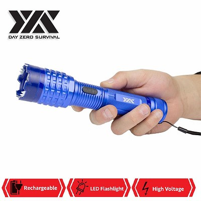 DZS Blue Delta Stun Gun 10 Million Volt Rechargeable With LED Flashlight