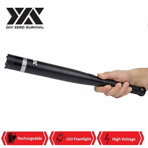 DZS Aluminum Stun Baton FlashLight BAT Stun Gun For Self Defense