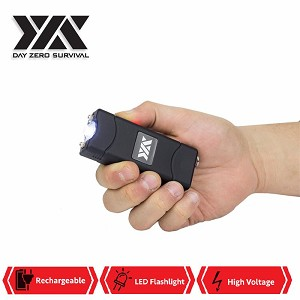 DZS Ultra Mini Stun Gun Rechargeable With LED Light, Holster and KeyRing