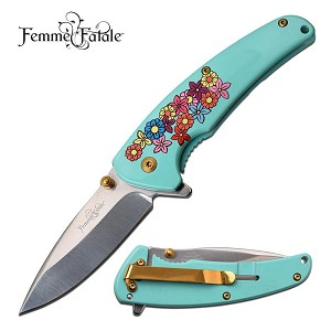 Blue Blade Knife: A Pleasant Design With A Razor Sharp Blade. Perfect Purse Accessory!