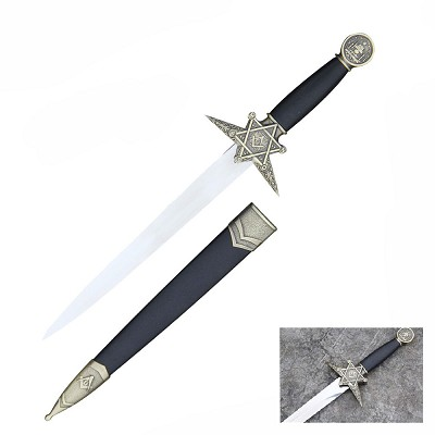 Masonic Dagger Square and Compass With Sheath Free Mason