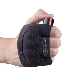 InstaFire Extreme Self Defense Pepper Spray With Knuckle Defense Black