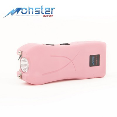 5 Million Volts Rechargeable Mini Compact Pink Stun Gun with LED Light