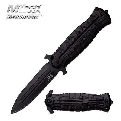 The MTech USA 4 Inch Pocket Knife Dagger Style And Assisted Opening Mechanism