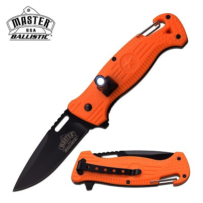 The Best Tactical Pocket Knife With Led And Orange Ergonomic Handle