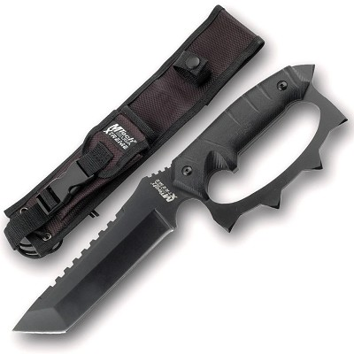 "Tactical Knife Mtech 5.5"" Tanto Blade Combat Fight Knuckle Guard"