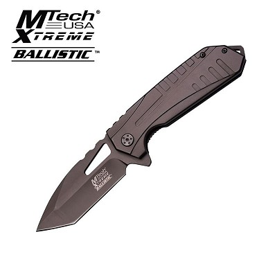 Tactical Spring Assist Folding Knife Viper Gunmetal Tanto Everyday Carry