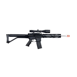 P1136 FPS-280 Rifle and FPS-120 Pistol Spring Airsoft Guns Combo Pack