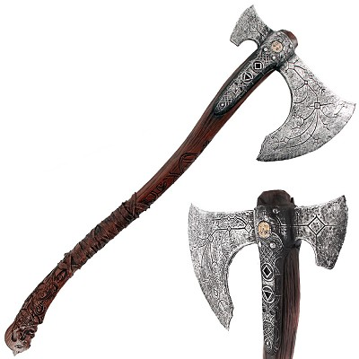 36.5 Inches Foam Kratos Axe Cosplay Prop Weapon
