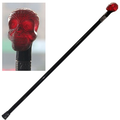 "35"" Day Of The Dead Skull Walking Stick Cane"