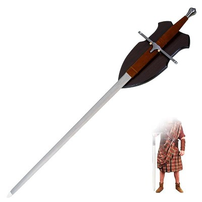 42 inch Sir William Wallace Long Two Handed Medieval Claymore Sword
