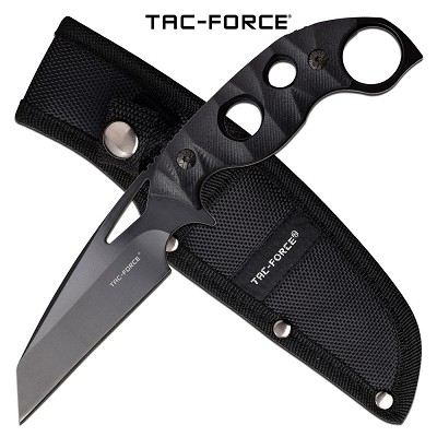 Tac Force Tactical Fixed Blade Knife 8.5 Inch Length Black G10 Handle