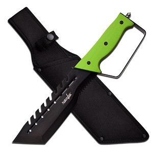Survivor Fixed Blade Knife With Green Handle Come with Nylon Sheath