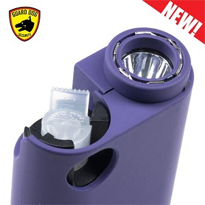 Purple Olympian World's Only All-In-One Stun Gun - Pepper Spray - Flashlight
