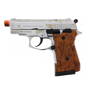 Zoraki 914 9mm Full Auto Engraved Front Firing Machine Pistol